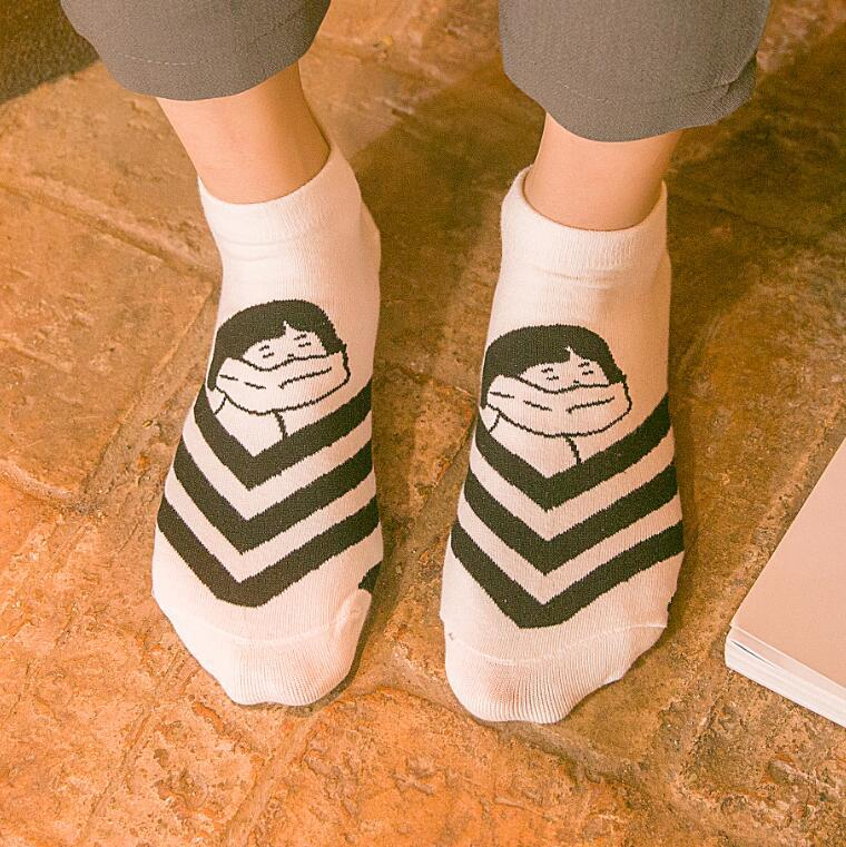 2016 Fashion Ankle Korean Socks Wholesale New Spring Summer Casual Women Cartoon Pattern A123(China (Mainland))