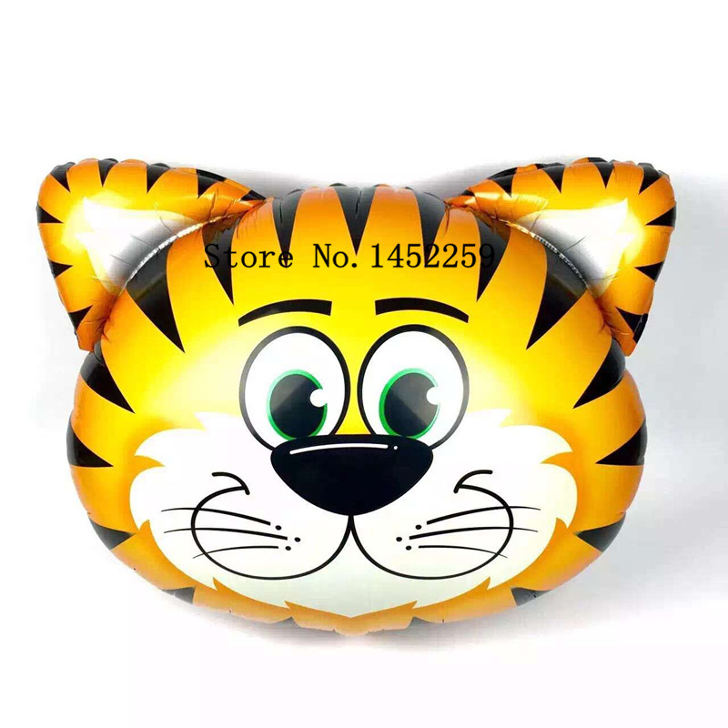 Free shipping 1pcs new 30 inch aluminum Tiger head animal balloon toys for children birthday party decoration balloon<br><br>Aliexpress