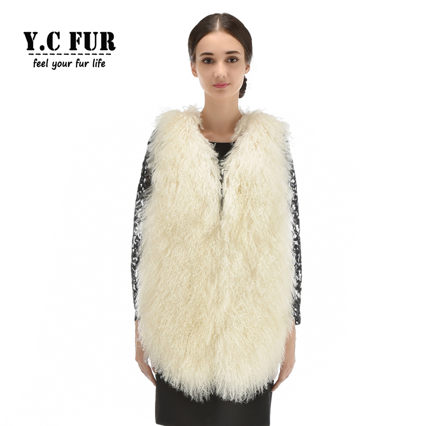 New Style Fashion Women Vests Winter Autumn Whole Pieces Mongolia Sheep Fur Waistcoats Female Sheep Fur Gilet V-Neck JacketsОдежда и ак�е��уары<br><br><br>Aliexpress