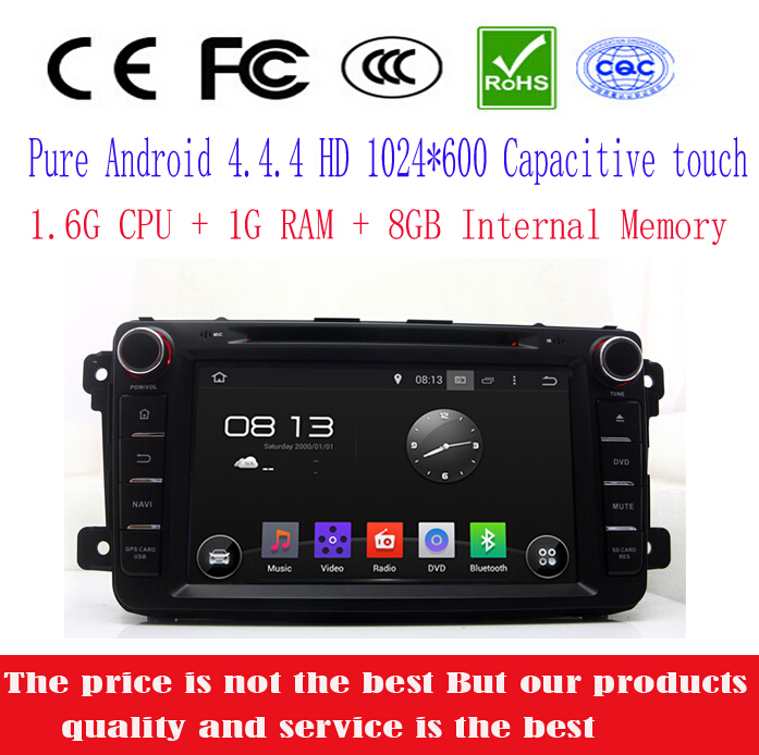 1024*600 Prue Android 4.4.4 Car DVD Player for Mazda CX9 CX-9 2012 2013 with GPS Radio TV BT SD USB AUX 3G WIFI 1.6G CPU+1G RAM(China (Mainland))