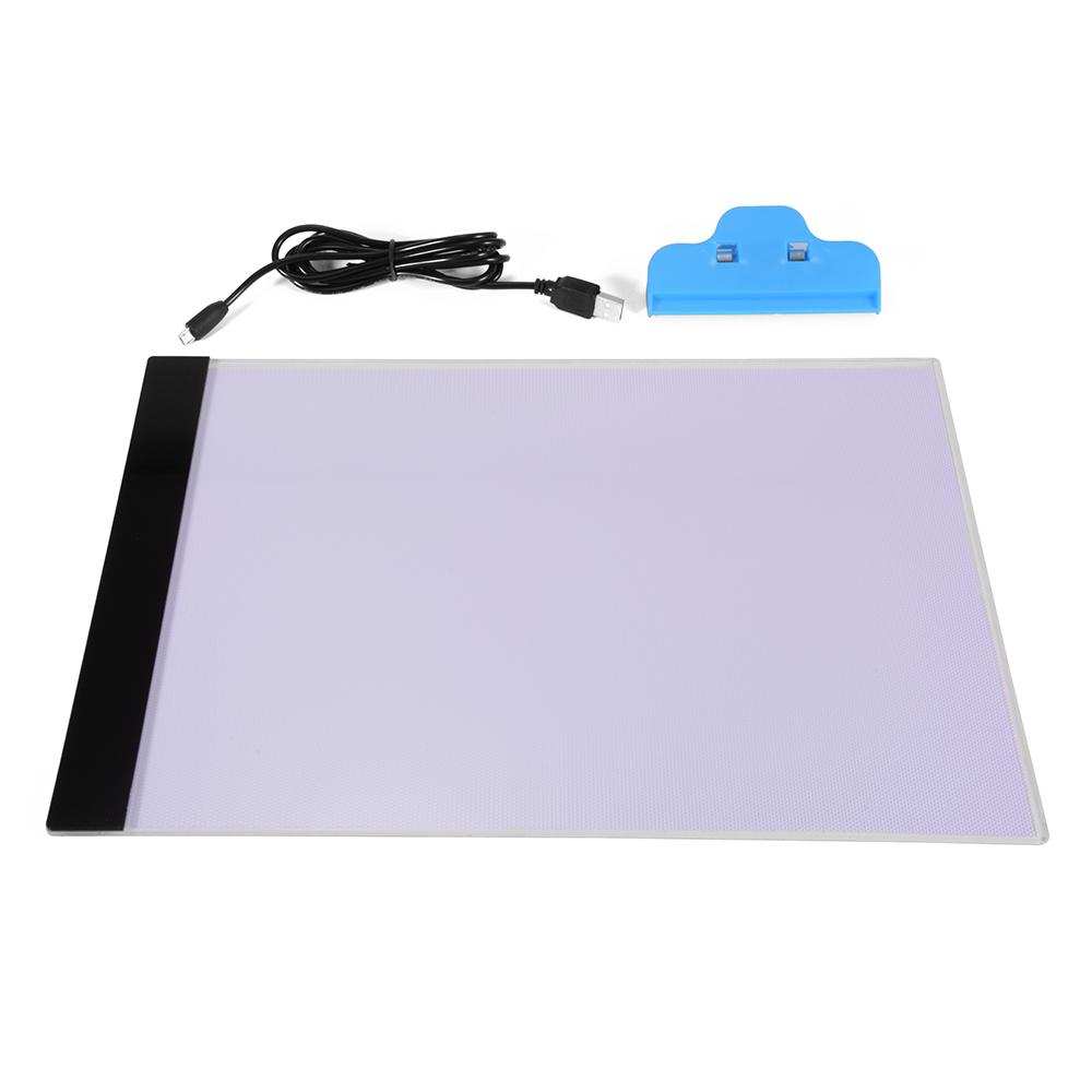 A4 LED Artist Thin Art Stencil Drawing Board Light Box Tracing Table Pad AH210(China (Mainland))