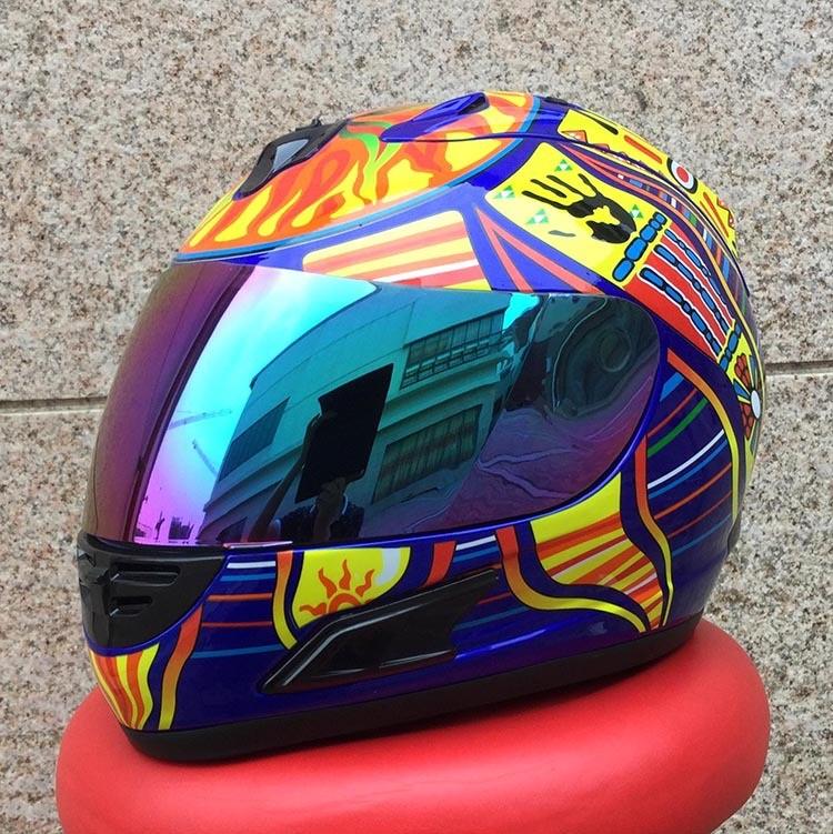 Top Brand MALUSHUN Cool Men Blue Motorcycle Helmet Five Continents Number 46 Pattern Motocicleta Cascos Para Moto Depreciate