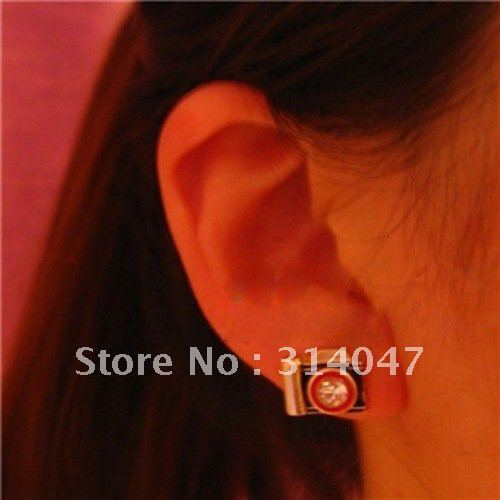 Wholesale Factory Price Free Shipping Jewelry retro camera earrings sp134