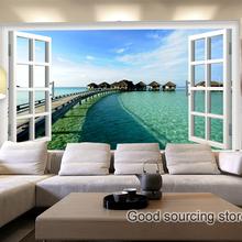 Mediterranean Maldives sea sight sky cloud photo wallpaper(China (Mainland))