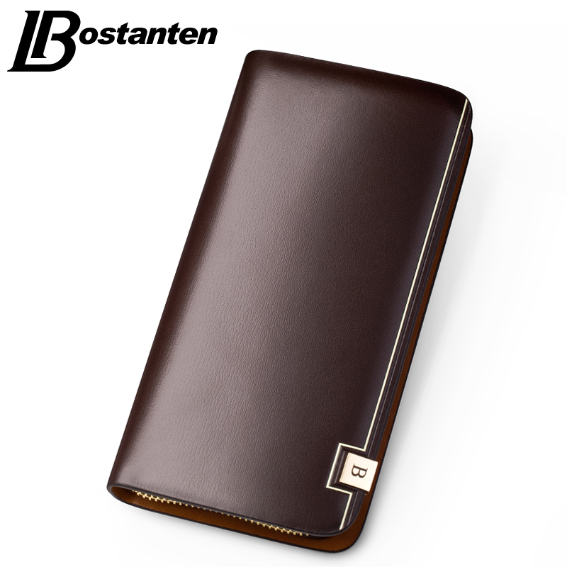 BOSTANTEN 2016 Sale Business Leather Purses Wallets Man Multifunctional Famous Designer Male Coin Purse Money Holder Carteras(China (Mainland))