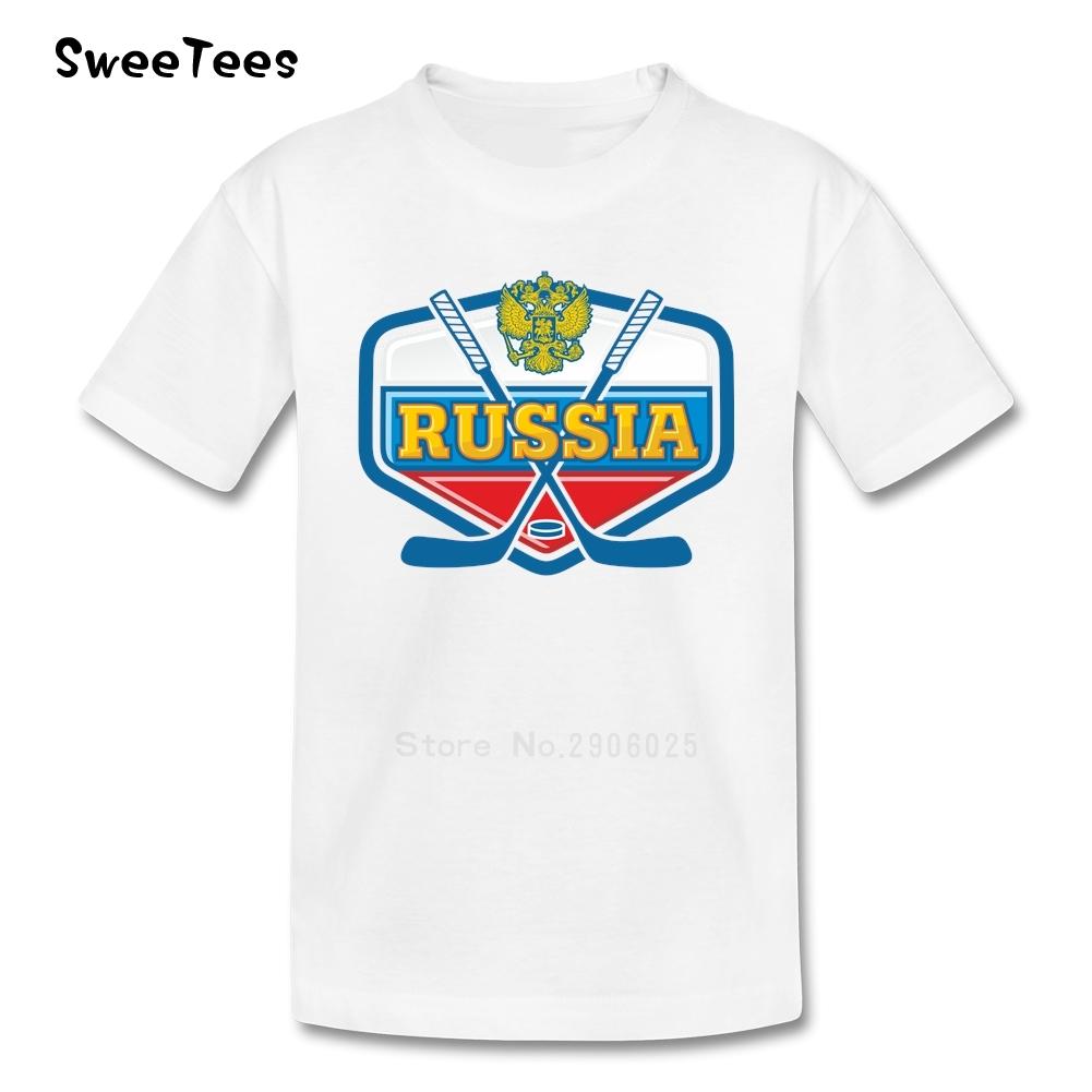 Russia Hockey Boys Girls T Shirt Cotton Short Sleeve Crew Neck Tshirt children's Clothing 2017 Hot Sale T-shirt For Kids(China (Mainland))