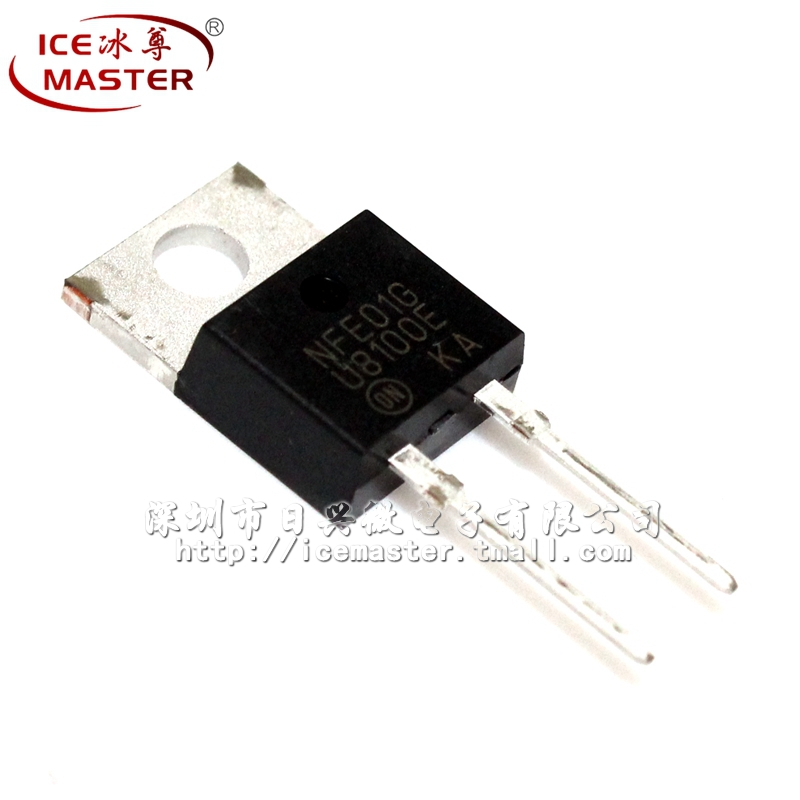 Free shipping  | MUR8100CT U8100E EG TO-220-L2 single diode rectifier [original authentic] 100% New original(China (Mainland))