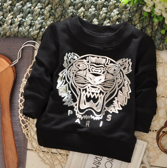 1piece Lot 100 Cotton 2015 The Tiger Head Baby