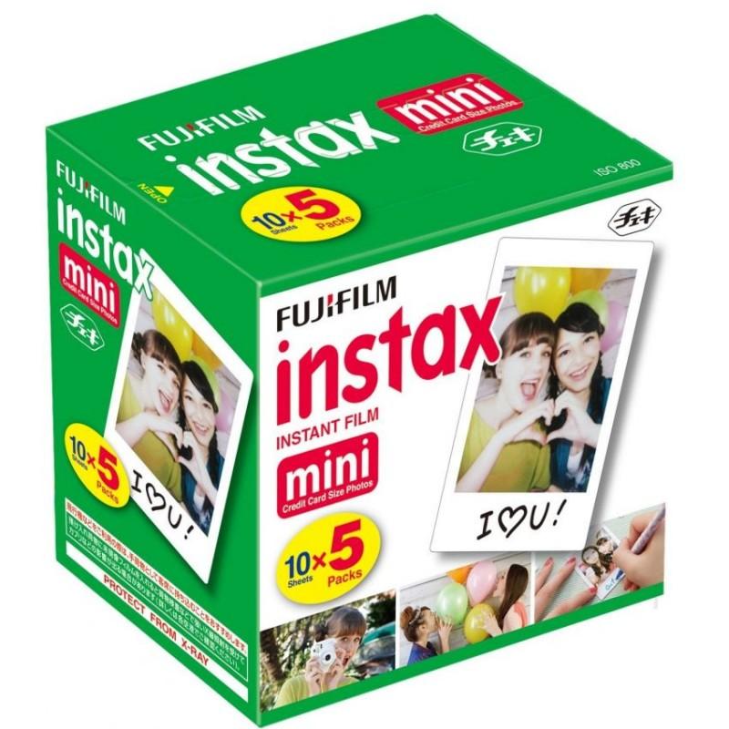 Original Fuji Fujifilm Instax Mini 8 Film White Edge Photo Papers For Polaroid 7s 90 25 55 Share SP-1 Instant Camera 50 sheets(China (Mainland))
