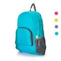 Free Shipping 1 Pcs Women Men Backpacks The Portable Zipper Pocket Solid Nylon Daily Travel Backpacks