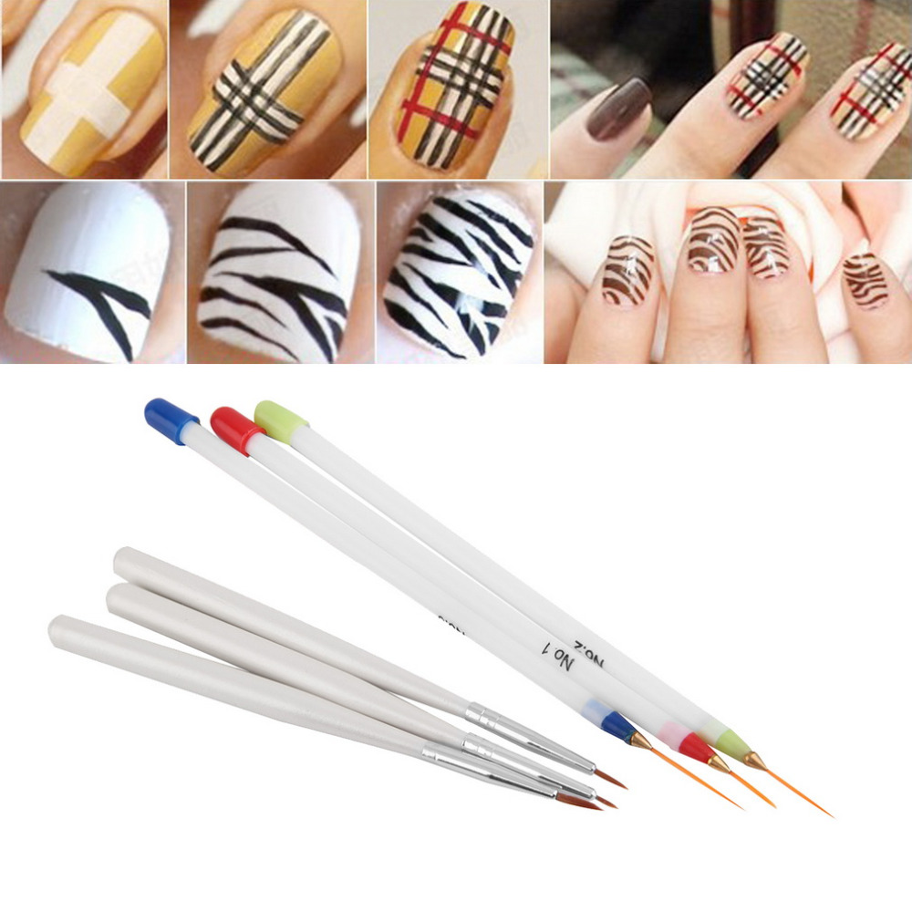6 Pcs Fine Drawing Striping Liner Design Nail Pen Brushes DIY Gel Manicure Tool 2015 Hot Selling(China (Mainland))