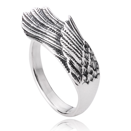 men woman lovers Angel pinky rings ring 925 sterling silver jewelry free shipping D0873(China (Mainland))