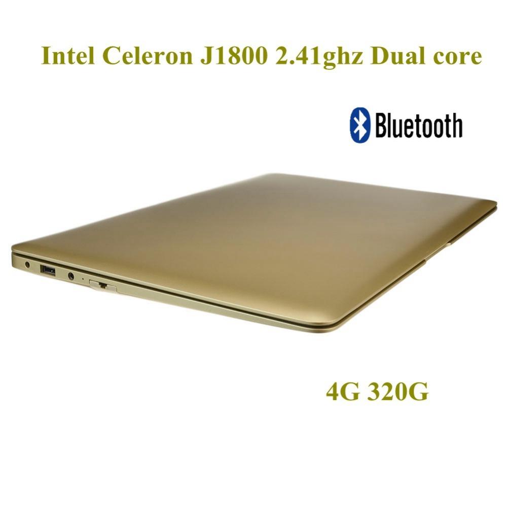 14 inch Brand New laptop Computer 4G 320G HDD WIFI Intel Cerelon J1800 Dual core Bluetooth