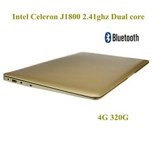 14 inch Brand New laptop Computer 4G 320G HDD WIFI Intel Cerelon J1800 Dual core 2.41ghz WiFi HDMI Windows 7 laptop notebook pc