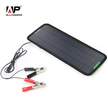 ALLPOWERS 18V 5W Portable Solar Car Charger Solar Maintainer Charging for Car Automobile Motorcycle Tractor Boat Batteries(China (Mainland))