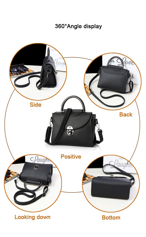 Semicircular Handles Retro Small Handbag 2016 New Women Fashion mbossing Bag Push Lock Flap Bag Ladies Designer Shoulder Bag