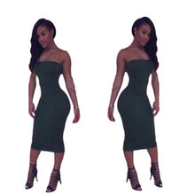 Buy 2017 Summer Style Sexy Slim Chest Wrapped Package Hip Dress New Fashion Hot Sale Summer Dress Popular Solid S M L XL FX42 for $13.06 in AliExpress store