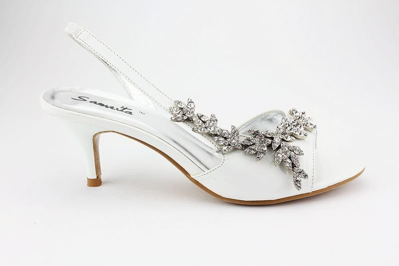 Ivory Kitten Heels Bridal Shoes - Cats & Kittens