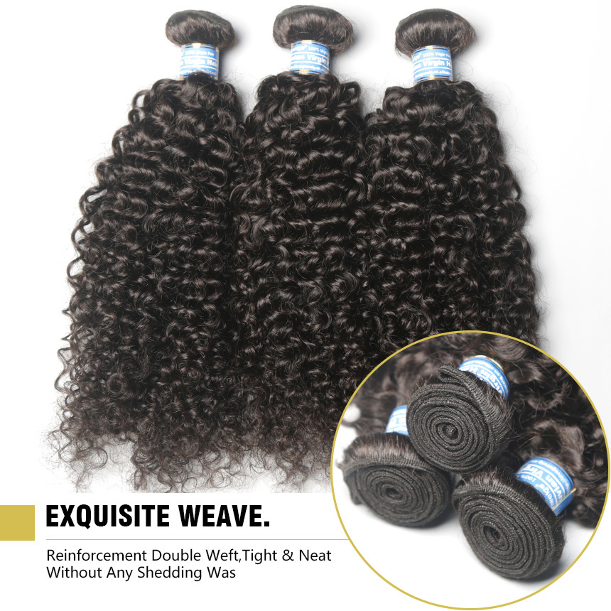 Hot Selling Prom Queen Hair Products Brazilian Virgin Hair Deep Wave 3Pcs/Lot Brazilian Human Hair Weaves Wavy Kinky Curly Hair(China (Mainland))