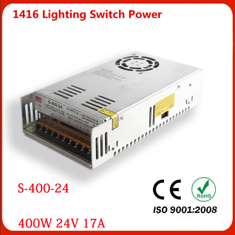 Manufacturers output 400W 24V 17A switch power S-400W-24v LED drive high power instrumentation DC power supply<br><br>Aliexpress