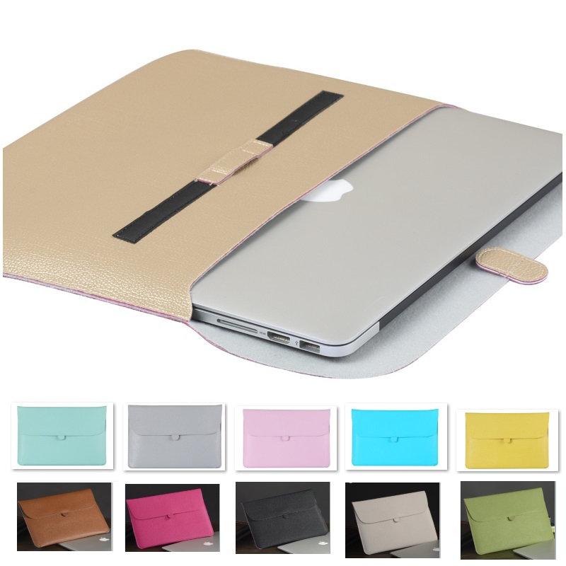 "Fashion PU Leather Sleeve Case For Macbook Air 11"" Air 13"" Pro 13"",Pro 15"",Retina 13,15, Laptop Bag Pouch,Free Drop Shipping.(China (Mainland))"