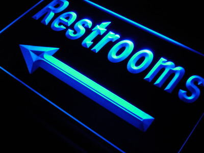 j685-b Restroom Arrow Toilet Cafe Bar LED Neon Light Sign Wholesale Dropshipping On/ Off Switch 7 colors DHL(China (Mainland))