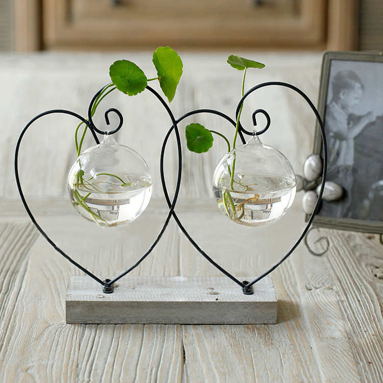 Home vase decoration brief transparent glass vase fashion for Hearts decorations home