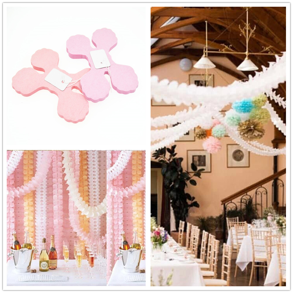 3.6m Four Leaf Clover Paper Garlands Party Wedding Home Decoration Beautiful deco mariage Party(China (Mainland))