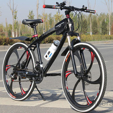 Free Shipping 26 Inch 21 Speed Mountain Bike Colorful Mountain Bicycle With One Piece Wheel Double Disc Brake Just For Russia