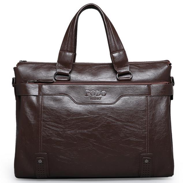 Men bag 2015 Polo famous brands genuine leather bag High Quality men messenger bags vintage laptop bag briefcase handbag V3G60(China (Mainland))