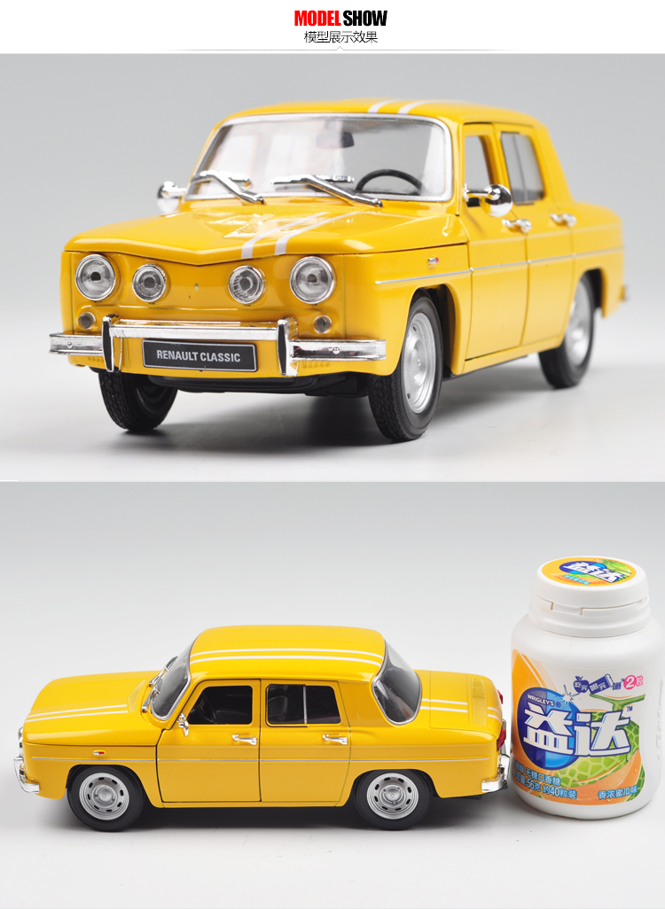 Brand New WELLY 1/24 Scale Car Model Toys France 1964 Renault R8 Gordini Diecast Metal Car Model Toy For Collection/Gift/Kids(China (Mainland))