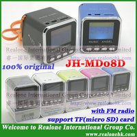Portable Speaker MUSIC ANGEL JH-MD08D TF card speaker with LCD screen+FM radio function+TF card reader+wholesale