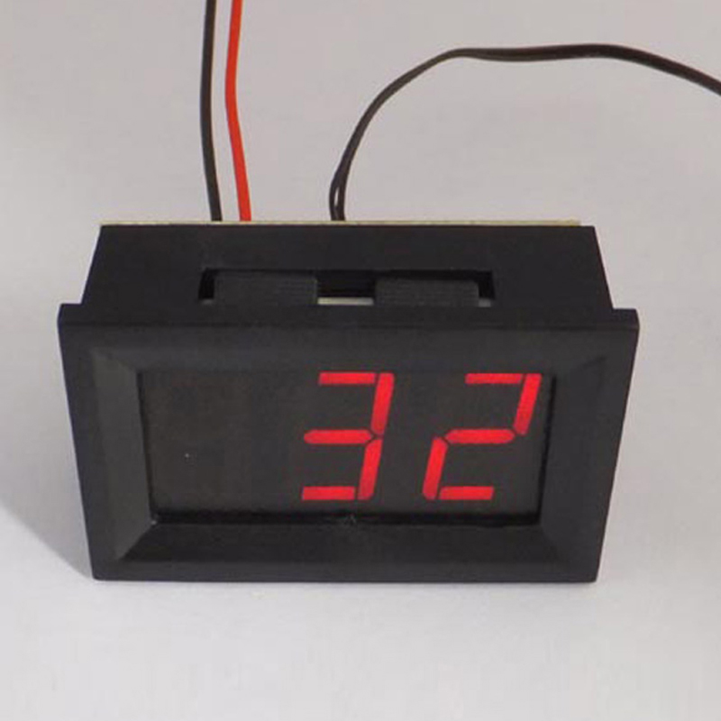 Гаджет  0.56 inch LCD Red Light -30~70 degree  Digital Thermometer Panel with Three Wire KK#Y None Инструменты