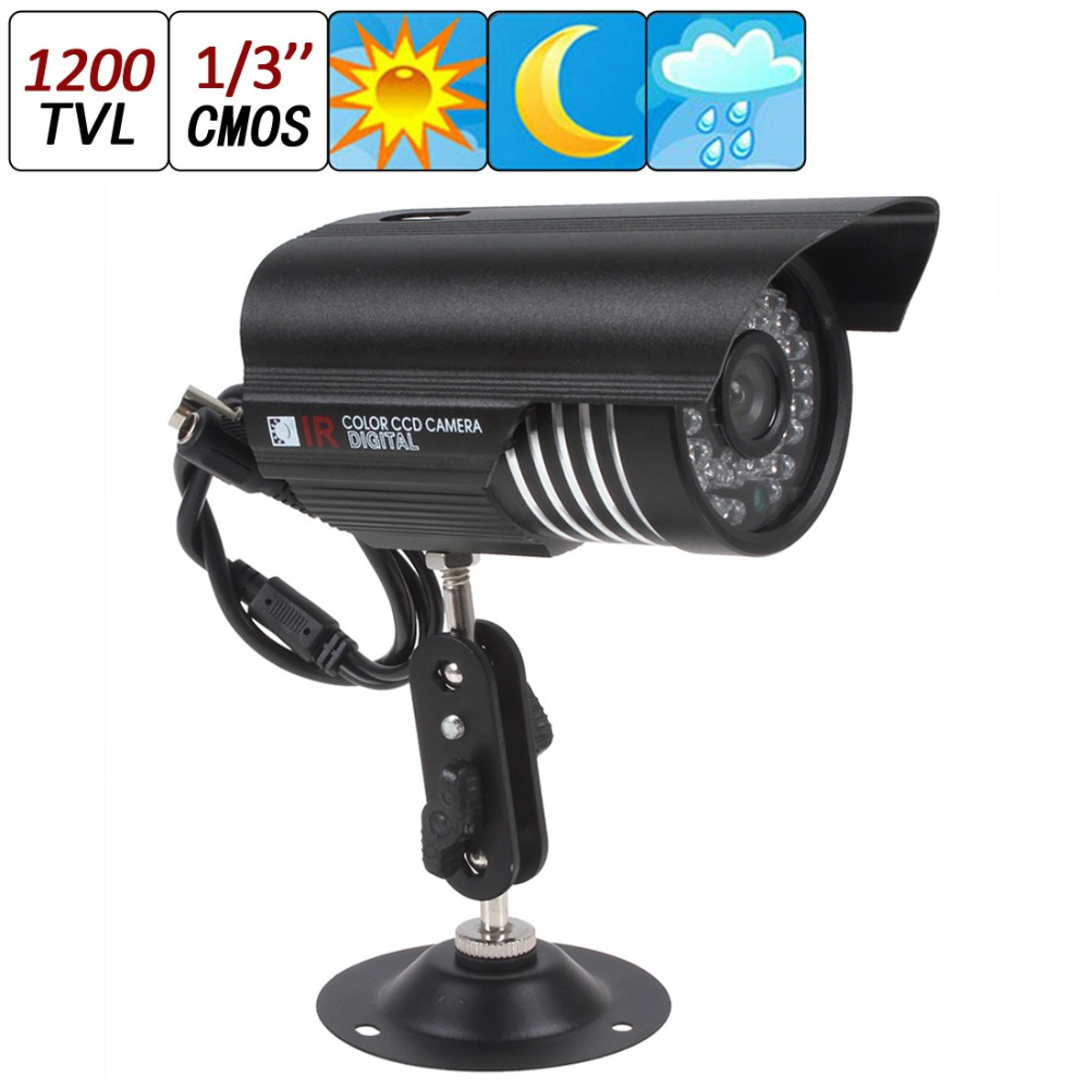 New 1200TVL 6mm Len HD Color Outdoor CCTV Surveillance Security Camera 36IR Day Night Video DC 12V(China (Mainland))