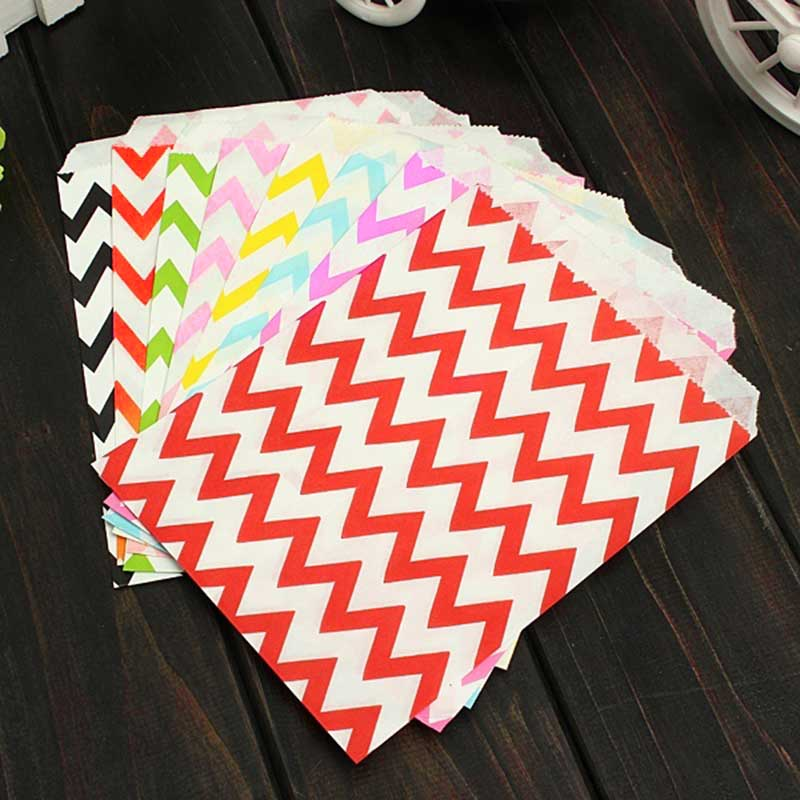 25 Pcs Candy Bag Stripe Treat Bags Wedding Birthday Party Favors Gifts Paper Bags Home Kitchen Accessories Hot Sale(China (Mainland))