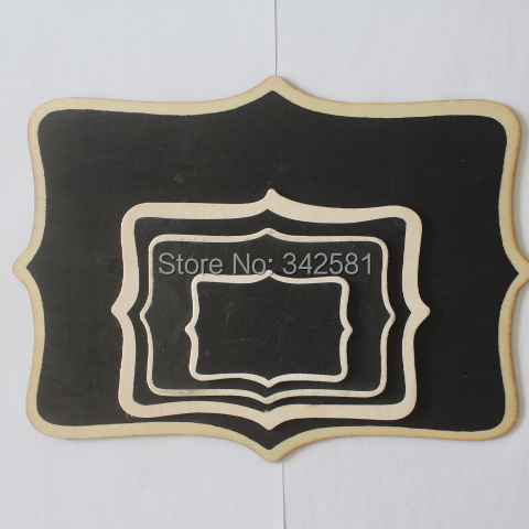 Small Meduim Large Extra Large Scroll Black Chalkboard Wood Frame Wedding Baby Shower restaurant and pub Party buffet table(China (Mainland))