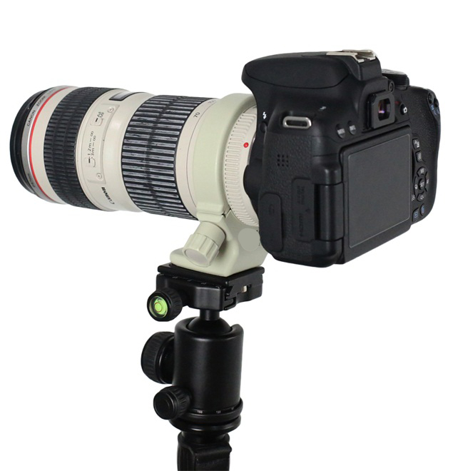 Camera Tripod Collar Mount Ring Canon EF 70-200mm f4 IS XXB Lens Black White color