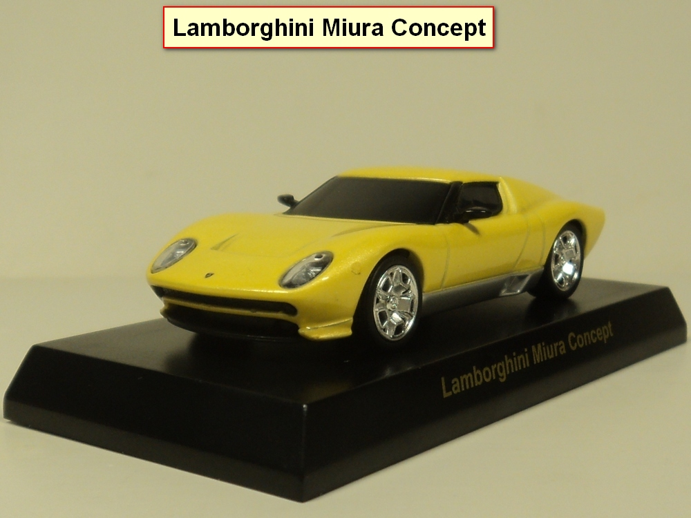 kyosho 1:64 Miura Concept Diecast car model (Yellow)(China (Mainland))