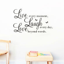live laugh love quotes wall decals zooyoo1002 home decorations adesivo de paredes removable diy wall stickers(China (Mainland))