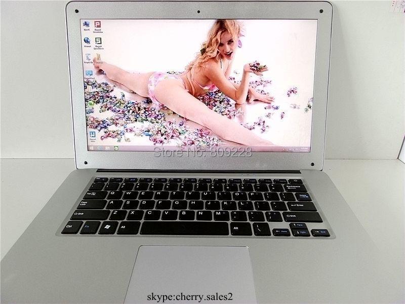 Free shipping 14 1 inch ultrabook laptop windows7 or 8 1 Intel Celeron N2840 J1800 dual