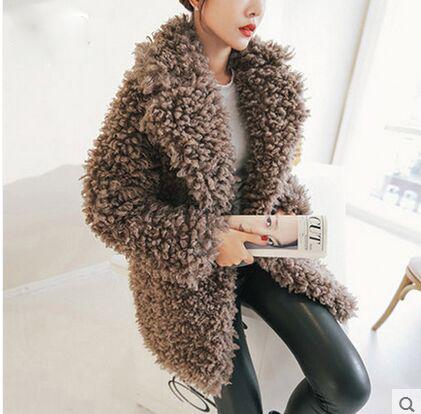 Online Buy Wholesale mongolian lamb faux fur coat from China ...