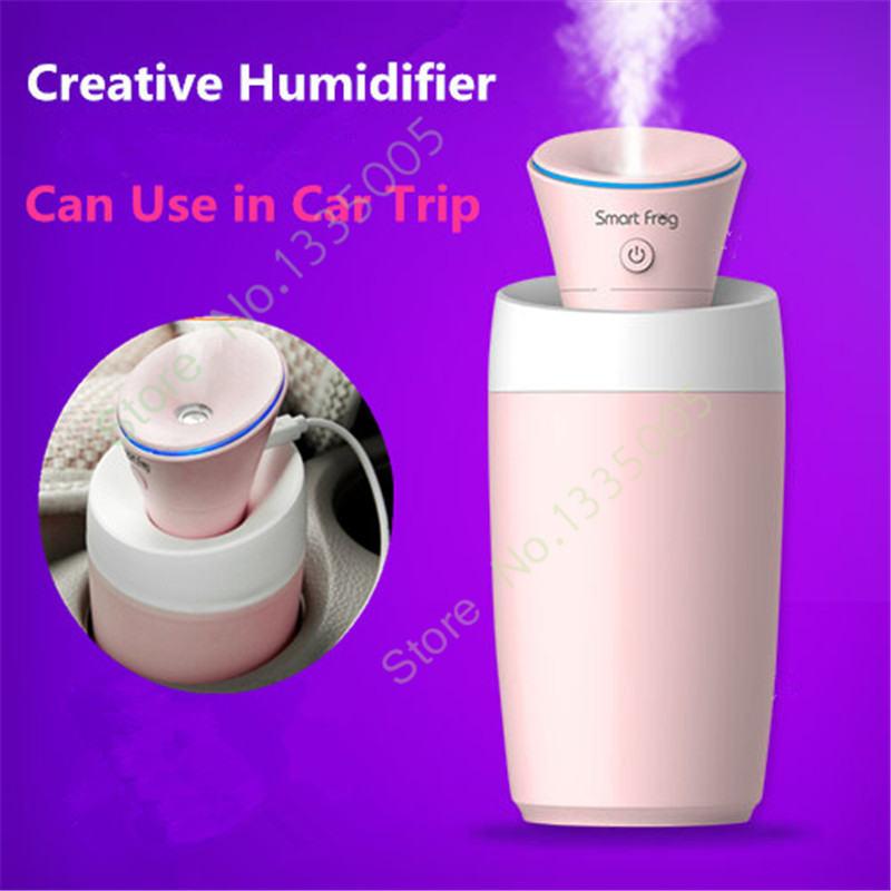 Nebulizer Humidificador Difusor De Aroma Fogger Des Mini Air Ultrasonic Humidifier Portable Car Flower Lily Water Mist Maker(China (Mainland))