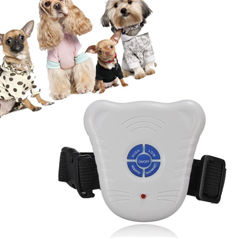 New Arrival Hot Sale Safe Ultrasonic Dog Pet Stop Barking Anti Bark Training Trainer Control Collar(China (Mainland))
