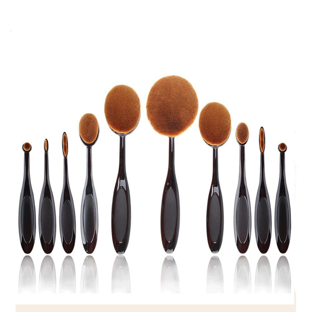 10pcs Blended Makeup brush Applies to Puff Foundation loose powder liquid Eyeshadow Concealer eyebrow contour blush kabuki brush(China (Mainland))