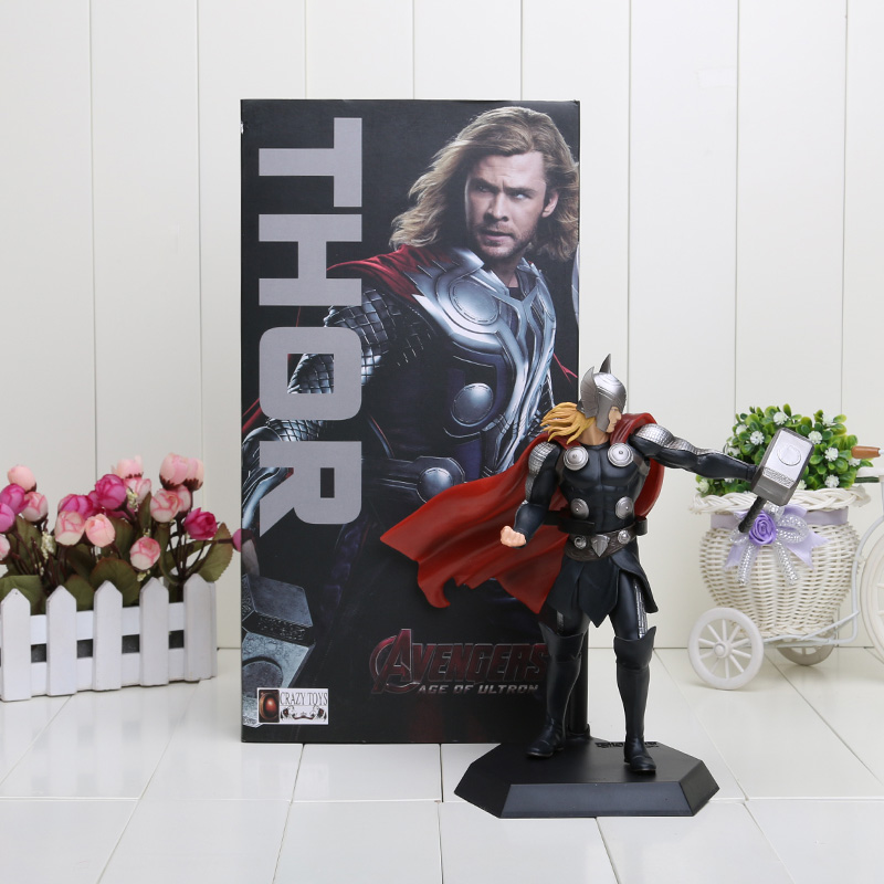 18cm Crazy Toys Thor 2 Super Heroes Avengers The Dark World PVC Action Figure Collection Model Toy(China (Mainland))
