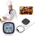 LCD Touchscreen Barbecue Timer Food Cooking Thermometer Digital Probe Meat BBQ Temperature Gauge Kitchen Cooking Tools