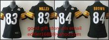 100% stitched women Pittsburgh Steelers ladies 83 Heath Miller 84 Antonio Brown Embroidery Logos size S to XXL,camouflage(China (Mainland))