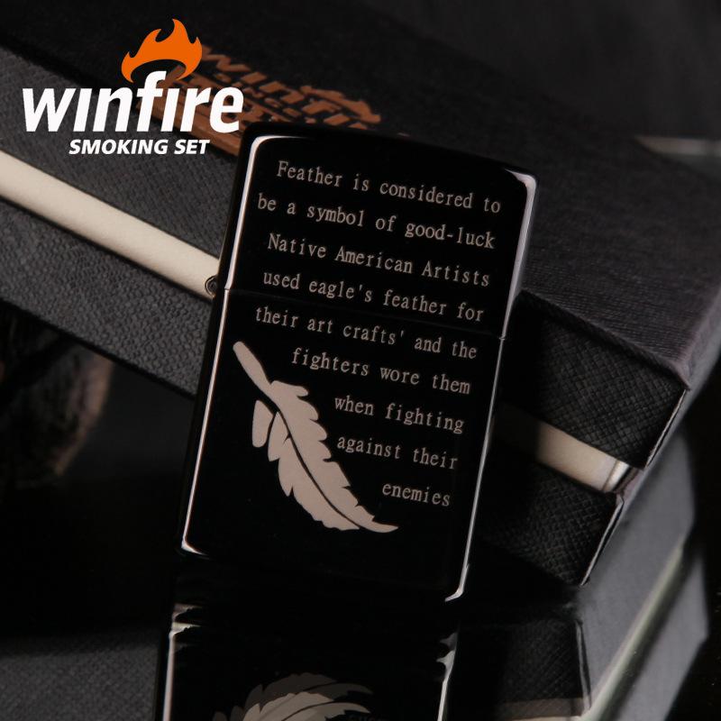 Establishing creative singles day gift lighters customization Pure copper laser black ice storm kerosene lighter wholesale(China (Mainland))