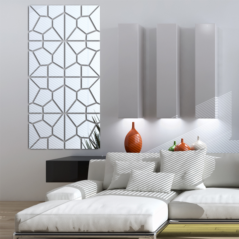 Modern Plastic Wall Decor : New wall stickers living home decor modern acrylic