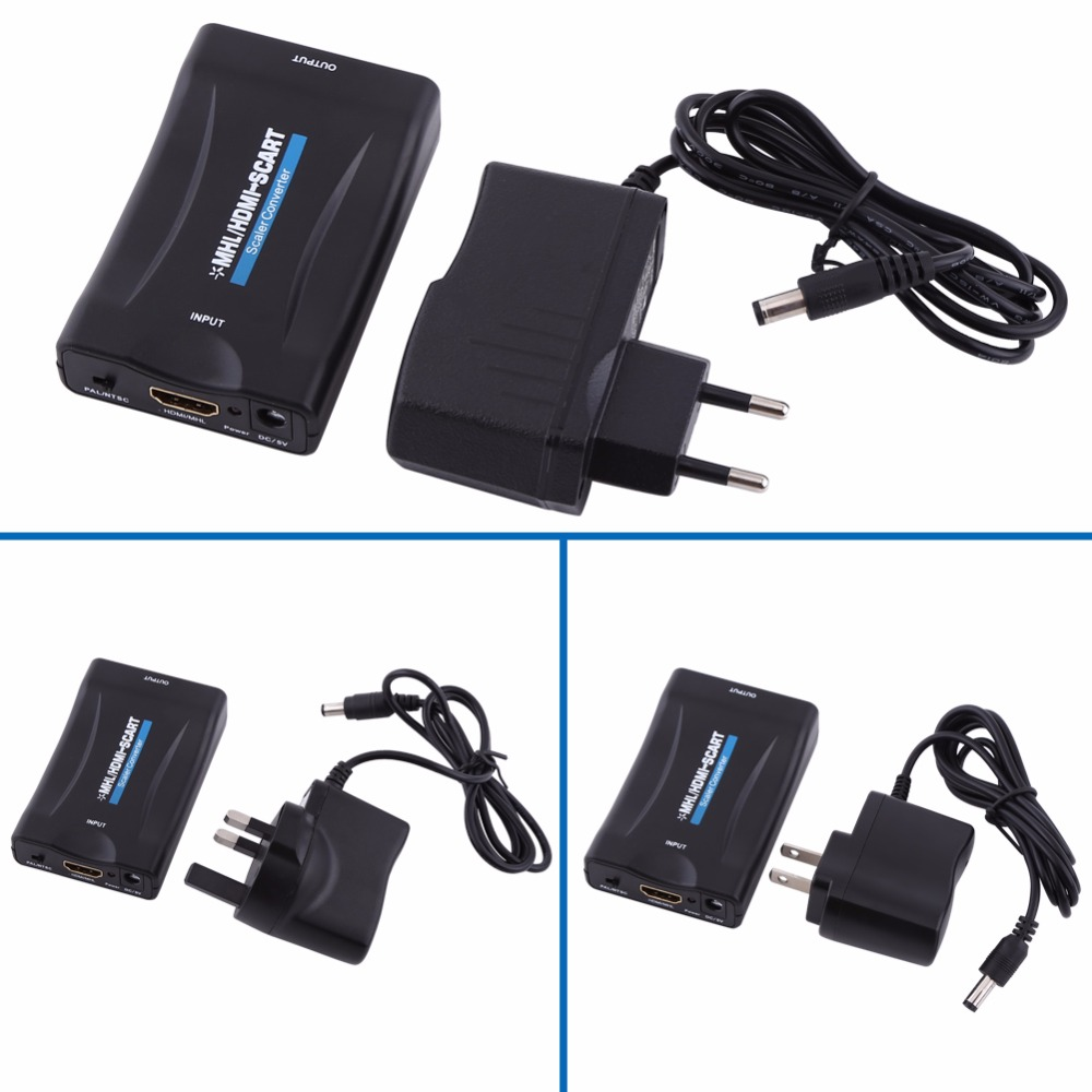 MHL/HDMI to Scart Audio Video Signal Converter Adapter 1080P With Charging Cable(China (Mainland))